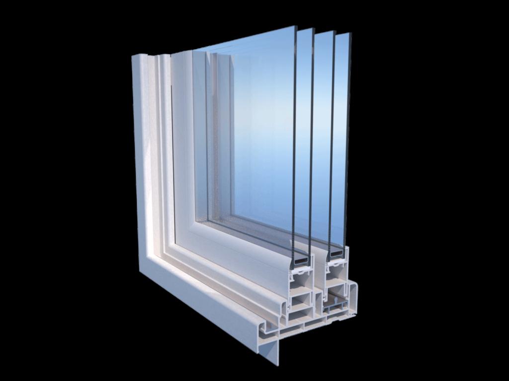 159159 patio pvc door profile corner cut