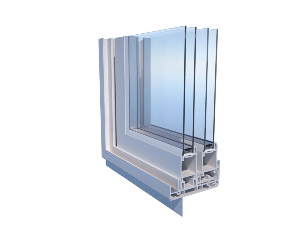 corner cut of 200200 patio pvc door profile