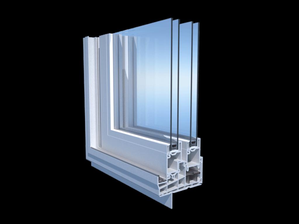 Corner cut 259057 patio pvc door profile
