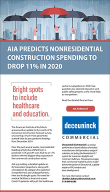AIA predicts nonresidential construction spending to drop 11% in 2020