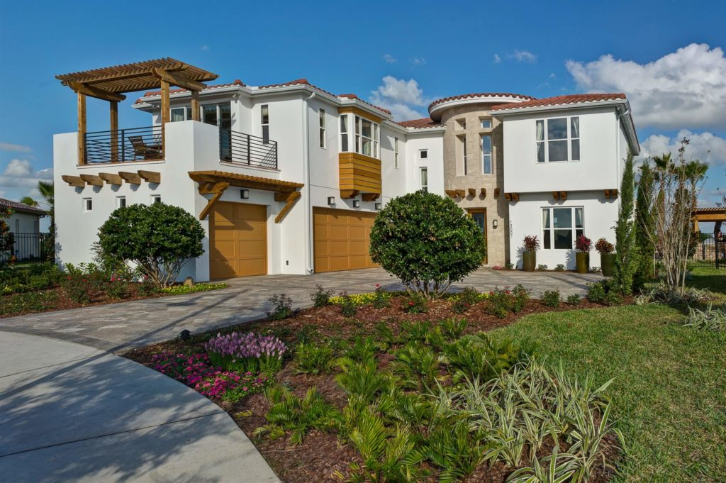 Large white house in florida with window system selection