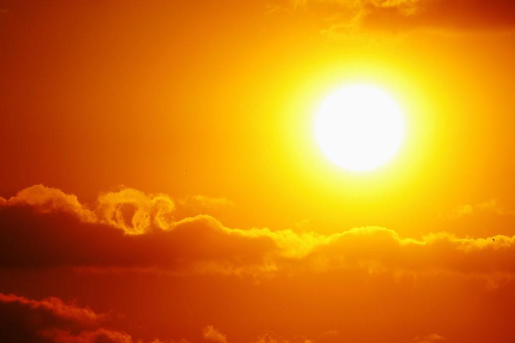 sun in orange sky